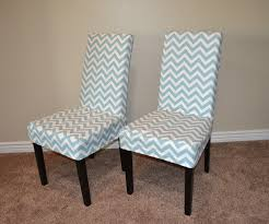 dining room design cozy parson chair chevron slip cover and