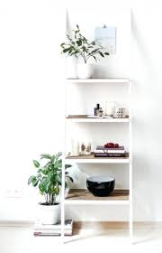 ladder shelf bookcase lowes bookshelf white leaning pot plant