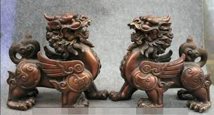 pixiu statue s01746 11 folk bronze guardian fly kylin