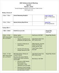 10 sample advisory agenda free sample example format download