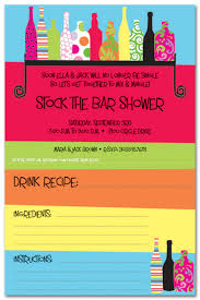 stock the bar shower drink shelf stock the bar invitations myexpression 17361