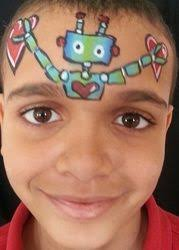 coloring page glamorous face painting robot homemade costumes