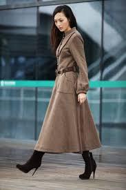 camel cashmere coat long sleeve wool jacket big sweep maxi wool