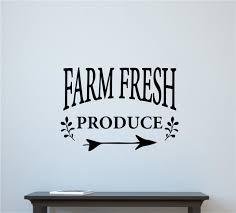 farm fresh produce vinyl decal wall stickers words lettering farm fresh produce vinyl decal wall stickers words lettering kitchen farm decor