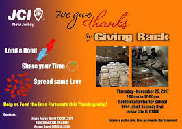 we give thanks by giving back