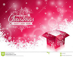 vector christmas illustration with typographic design and shiny