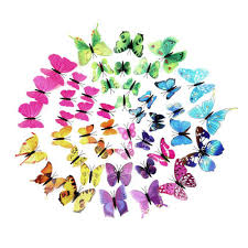 new 3d butterfly sticker art wall mural door decals home decor art