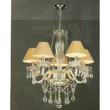 Chandelier Uk Chandelier Chagne Gold Glass With Droplets Pale Gold Candle Shades
