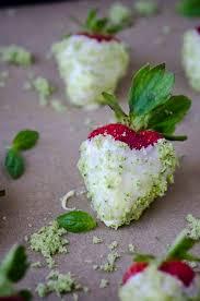 White Chocolate Dipped Strawberries Recipe White Chocolate Strawberries With Basil Sugar Scaling Back