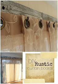accidentally wonderful diy rustic curtain boards