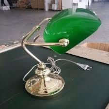 le de bureau banquier laiton verre vert antique en laiton vert verre lecture tirant switch banquier table