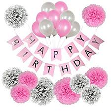 birthday girl birthday decorations for women and pink and