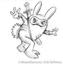 ninja warrior bunny rabbit sketch by erikdeprince on deviantart