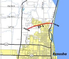 kenosha map january 7 2008 tornadoes in far southeast wisconsin