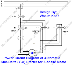 the star delta y δ 3 phase motor starting method by automatic