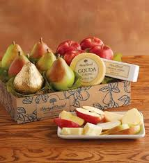 fruit and cheese gift baskets pears apples and cheese gift foodie gifts harry david