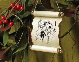 and tumnus in narnia scroll ornament