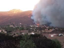 Wildfire Near Julian Ca by Blm Bans Shooting On Public Lands Due To High Fire Danger East