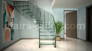 glass design helical staircase glass steps glass frame without risers