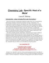 lab report conclusion template copper lab report
