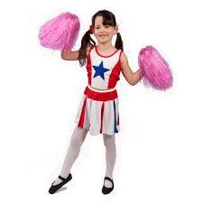 halloween costume cheerleader girls star cheerleader