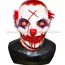 killer clown mask asenso scary killer clown mask buy sell online wigs masks with