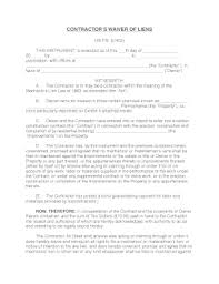 final lien waiver template forms fillable u0026 printable samples