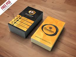 Studio Visiting Card Design Psd Agency Business Card Template Free Psd Card Templates Vertical