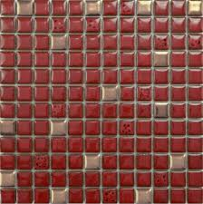 mosaic tiles kitchen backsplash glazed porcelain tile sheets bathroom porcelain ceramic mosaic red