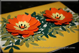 craft ideas for all flower greeting card using paper punches
