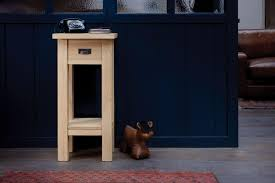 Lamp Tables Wooden Side Tables Handmade In Solid Oak U0026 Plank Wood Indigo