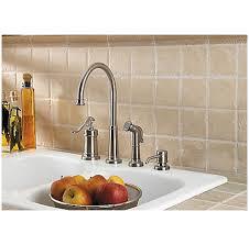 price pfister ashfield kitchen faucet brushed nickel ashfield 1 handle kitchen faucet lg26 4ypk