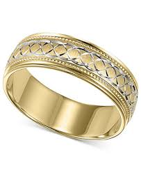 wedding gold rings men s 10k gold and 10k white gold ring engraved wedding band