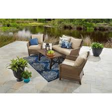 Better Homes And Gardens Wicker Patio Furniture - better homes and gardens camrose farmhouse 4 piece conversation