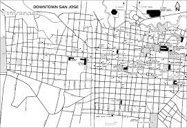 San Jose Map by Downtown San Jose Map Costa Rica