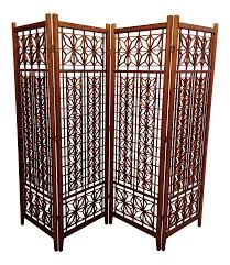wood room dividers geometric wood room divider screen chairish