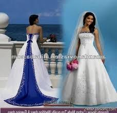 blue wedding dresses white and blue wedding dresses high cut wedding dresses