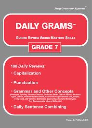 daily grams grade 7 easy grammar systems
