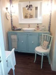 bedroom antique blue makeup vanity set with lights and shabby