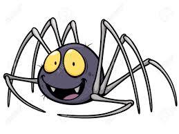 vector illustration of spider cartoon royalty free cliparts