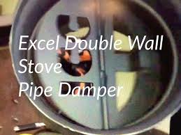 pipe damper wood stove flue key control chimney draw excel ultra