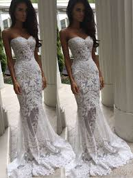 lace wedding dress trendy sweetheart sweep mermaid lace wedding dress with