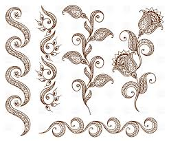 collection of floral ornamental design elements royalty free