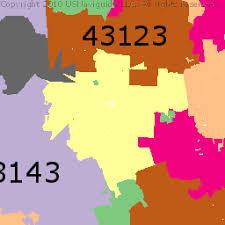 columbus ohio zip code boundary map oh