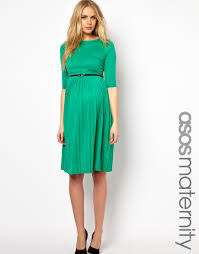 asos maternity midi dress with pleated skirt fashion police