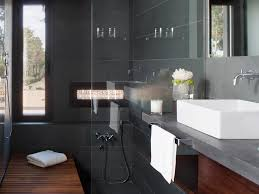 Bathroom Slate Tile Ideas Colors The Bathrooms Have Their Own Careful Luxury With This Dark Gray