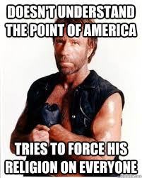 Memes Anti America - when i get a blowjob she comes anti chuck norris facts quickmeme