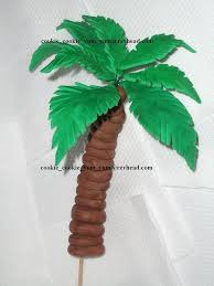 edible palm tree cake decoration topper tropical garden
