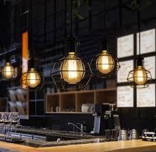 Bar Light Fixture Nordic Loft Style Edison Droplight Industrial Vintage Pendant L