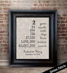 two year anniversary gift 2 year anniversary gift on cotton newly married gift 2nd